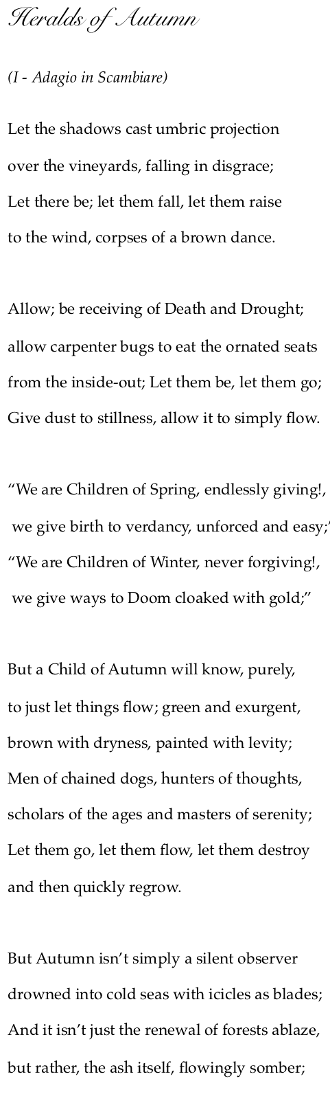 heralds of Autumn 1